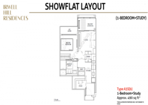 Irwell-hill-residences-1-bedroom-study-showflat-layout