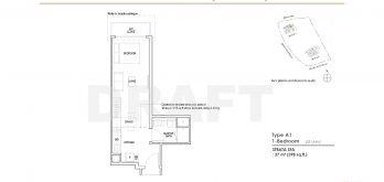 Irwell-Hill-Residences-studio-type-A1-398sqft