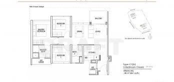 Irwell-Hill-Residences-3-bedroom-type c1-b-861sqft